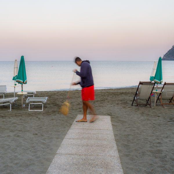 Cinque Terre, Italie, Ligurie, Levanto, plage