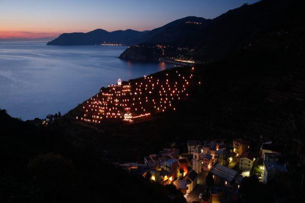 Cinque Terre, Italie, Ligurie, Manarola, crèche de Noël