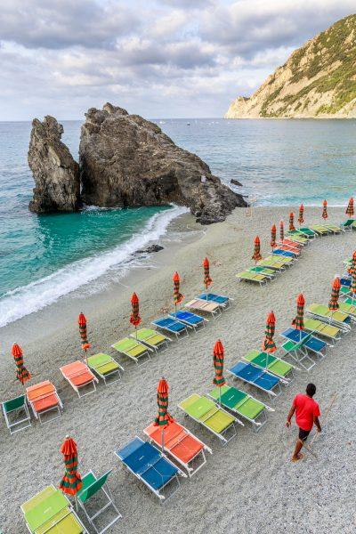 Cinque Terre, Italie, Ligurie, Monterosso, la plage