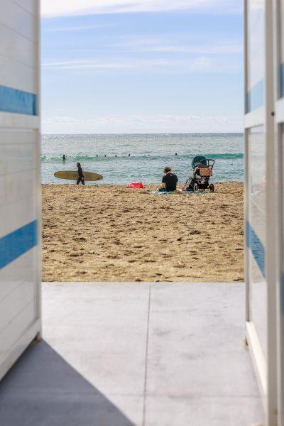 Cinque Terre, Italie, Ligurie, Levanto, la plage,
