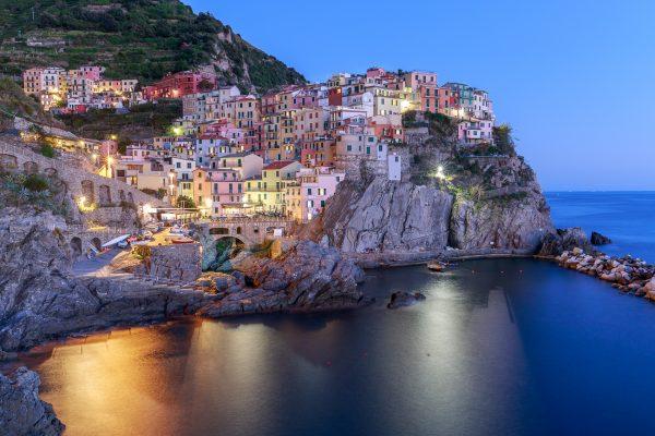Cinque Terre, Italia, Liguria, Manarola, heure bleue