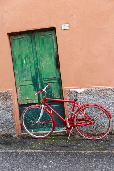 Cinque Terre, Italia, Liguria, Levanto, vélo rouge