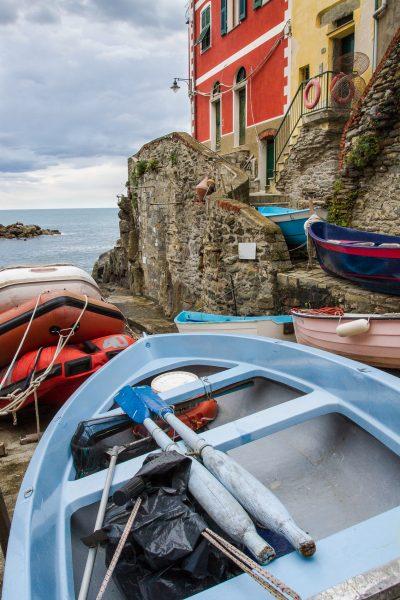 Cinque Terre, Italie, Ligurie, Riomaggiore, les barques