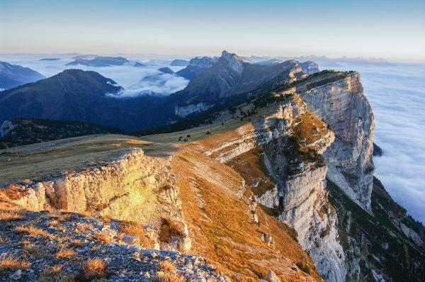 Alpes, Chartreuse, Dent de Crolles, lever de soleil, automne