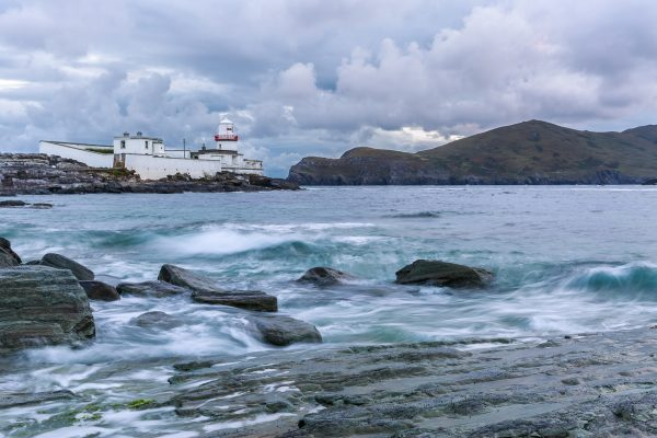 Ireland, Kerry, Iveragh peninsula, Valentia Island, Fort Point lighthouse