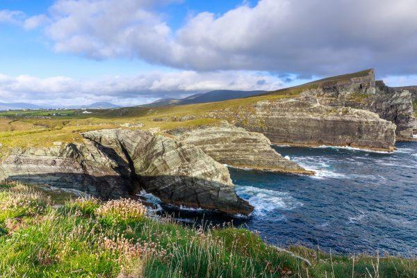 Irlande, Kerry, falaises près de Dromgour, Portmagee, Dromgour cliffs