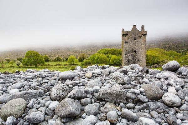 Irlande, conté de Clare, Burren, Gleninagh castle