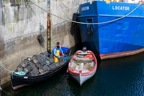 Irlande, Connemara, bateau de pêche, Roundstone
