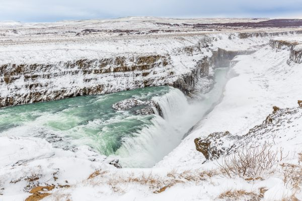 Islande, Iceland, winter, Golden Circle, Gullfoss
