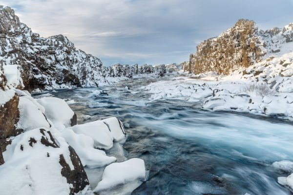 Islande, Iceland, winter, Golden Circle, Thingvellir, Oxararfoss