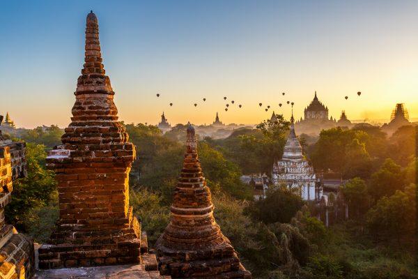 Myanmar, Birmanie, Bagan et montgolfières