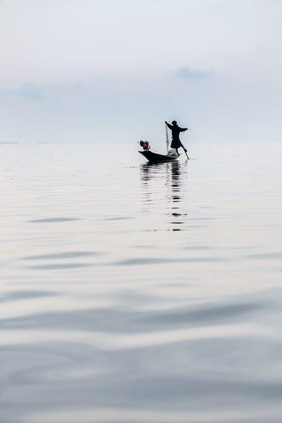 Myanmar, Birmanie, lac Inle, pêcheur (1)