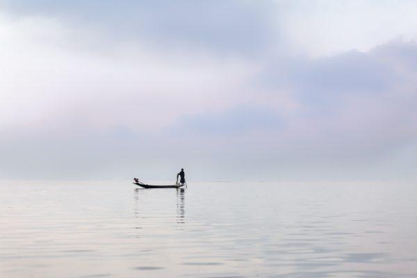 Myanmar, Birmanie, lac Inle, pêcheur (2)