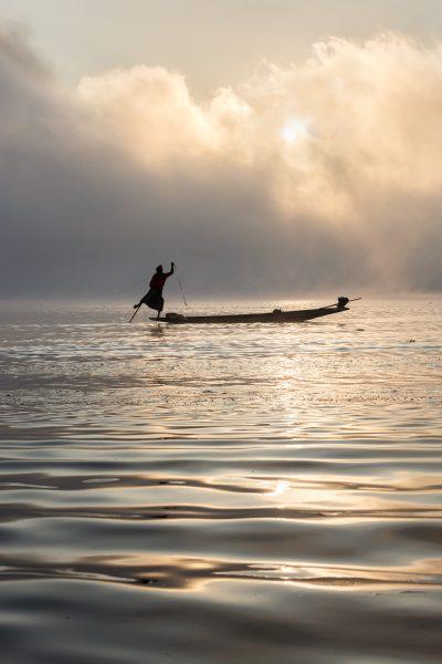 Myanmar, Birmanie, lac Inle, pêcheur (3)