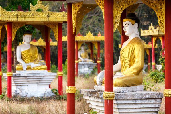 Myanmar, Birmanie, Hpa-an, Lumbini garden