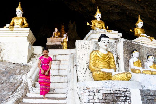 Myanmar, Birmanie, Hpa-an, Yathe Byan cave