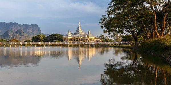Myanmar, Birmanie, Hpa-an, Kyauk ka latt pagoda