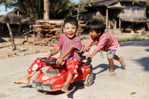 Myanmar, Birmanie, Hpa-an, enfants