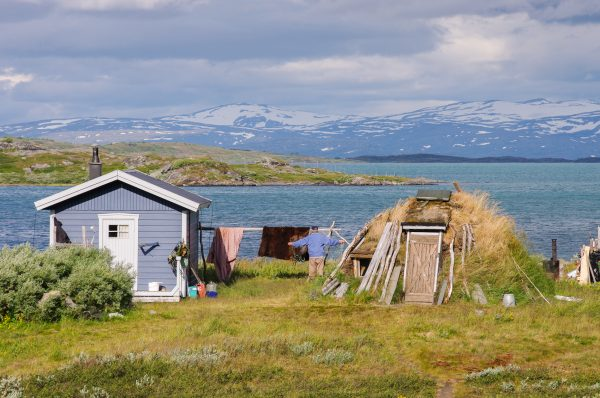 Trek photo laponie, Suède, Padjelanta, padjelantaleden, Arasluokta, bords de Virihaure