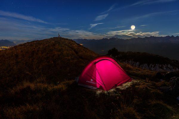 bivouac sous la pleine lune, Chartreuse, Dôme de Bellefont, Alpes