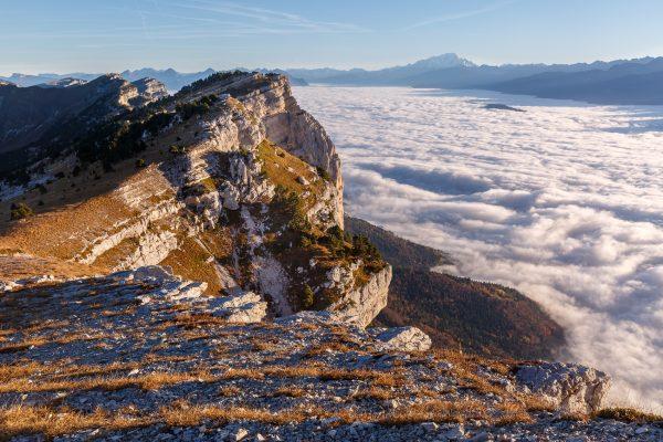 Chartreuse, Alpes, lever de soleil sur la Dent de Crolles