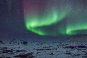 Islande, Snaefellsnes, aurore boréale, Iceland