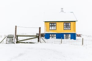 Islande, Snaefellsnes, the colored house, Iceland