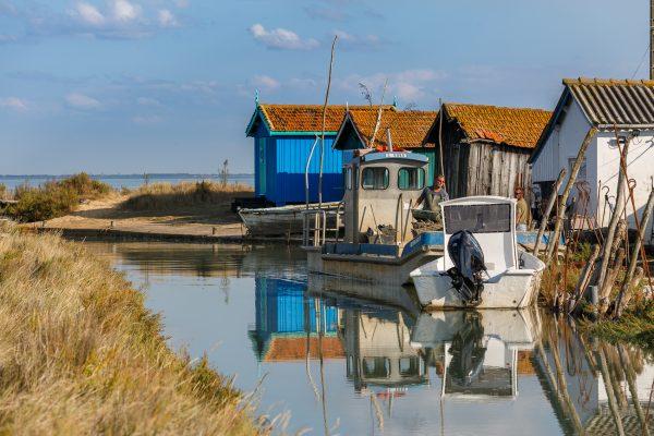 chenal ostréicole sur l'île d'Oléron, St-Trojan les Bains, stage photo en Charente Maritime,