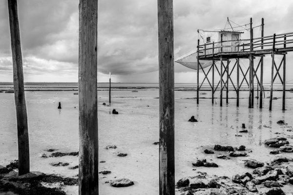 bord de mer et carrelets, Charente Maritime, Meschers sur Gironde