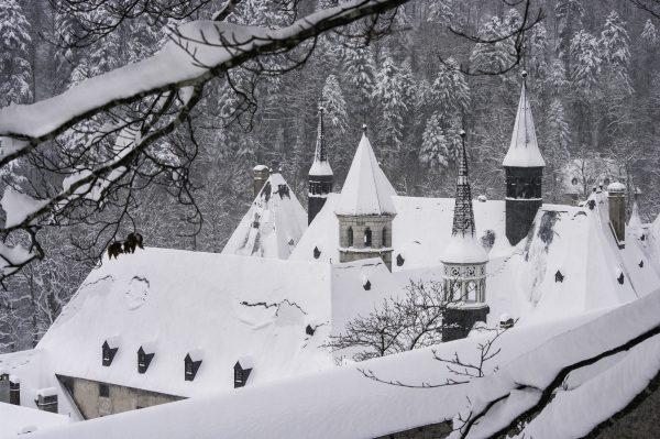 monastere de la grande chartreuse, Isère, neige, hiver, Chartreuse,