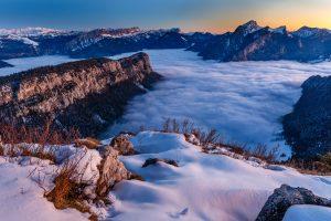pointe de la Cochette, Savoie, neige, hiver, Chartreuse,