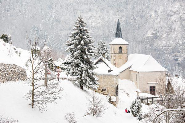 Corbel, Isère, neige, hiver, Chartreuse