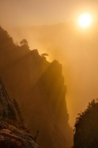 Lever de soleil au stage photo bivouac sur la réserve naturelle des hauts de Chartreuse