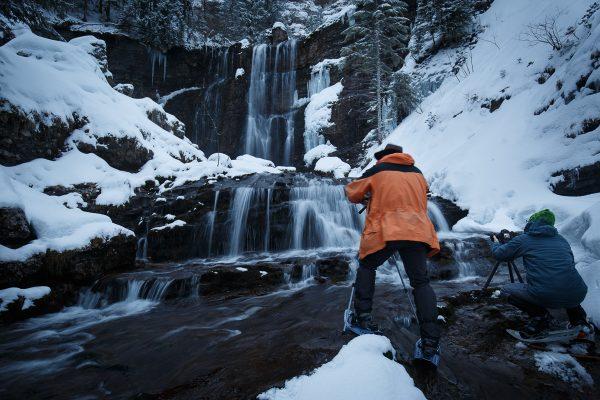 stage photo heure bleue, photo en pose lente, filés d'eau sur cascades et torrent en Chartreuse