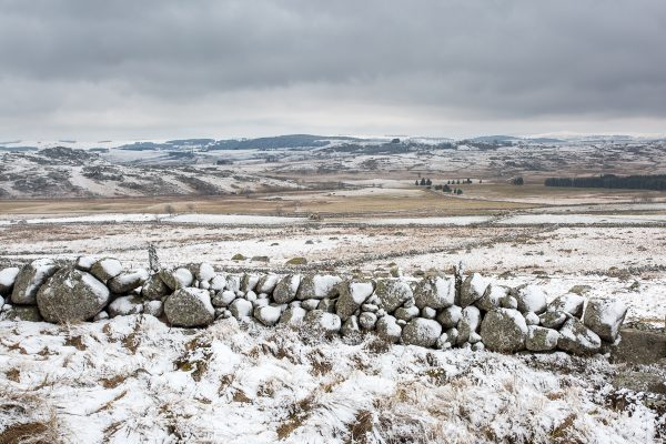 paysage d'Aubrac en hiver, stage photo Aubrac