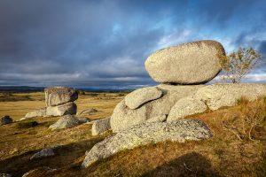 blocs de granit en Aubrac, stage photo paysage d'automne en Aubrac
