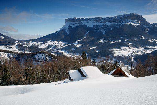 le Granier et le Mont Blanc, stage photo Chartreuse en hiver