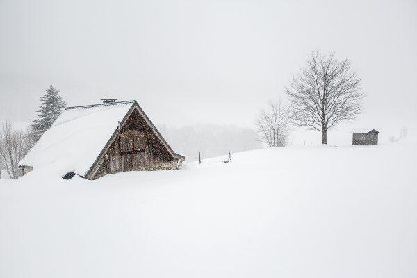paysage de montagne en hiver, stage photo Chartreuse en hiver