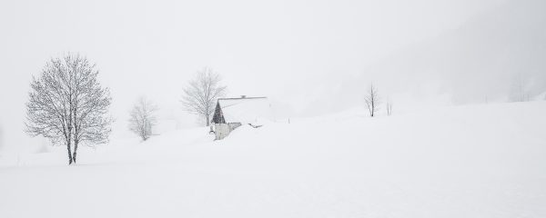 paysage d'hiver en montagne, stage photo Chartreuse en hiver
