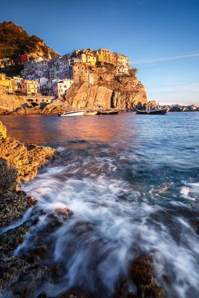 coucher de soleil à Manarola, voyage photo Cinque Terre