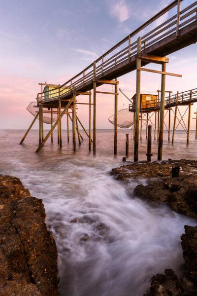 carrelets en Charente Maritime, stage photo de mer