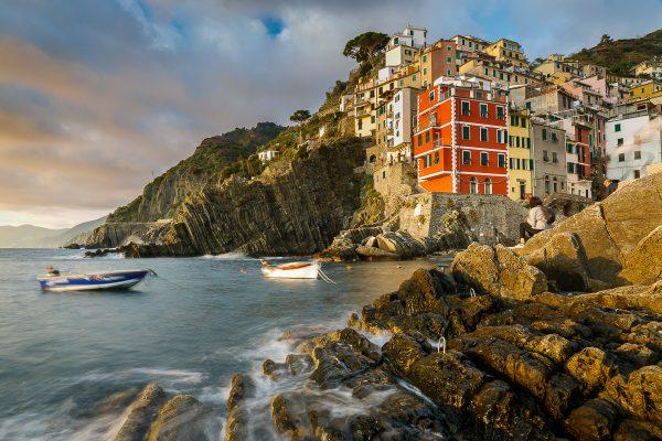 coucher de soleil à Riomaggiore, voyage photo Cinque Terre