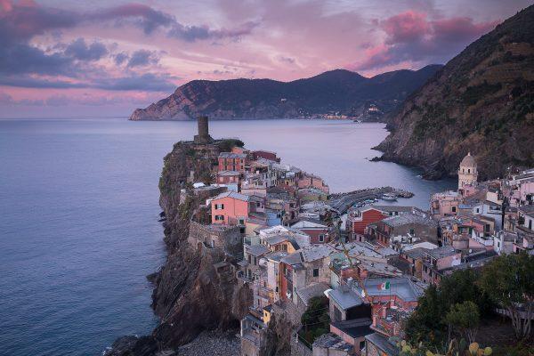 lever de soleil à Vernazza, voyage photo Cinque Terre
