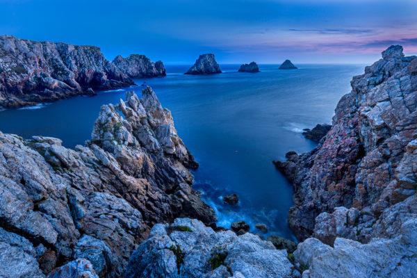 Heure bleue à Pen Hir, stage photo en Bretagne, Finistère