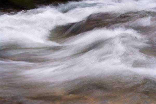 filé sur un torrent, stage photographier l'eau