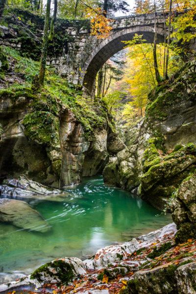 pont sur les gorges du Guiers Mort en Chartreuse