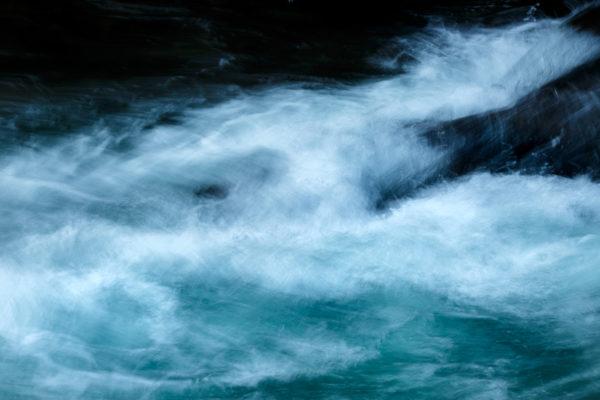 filé sur un torrent de Chartreuse, photographier le mouvement de l'eau