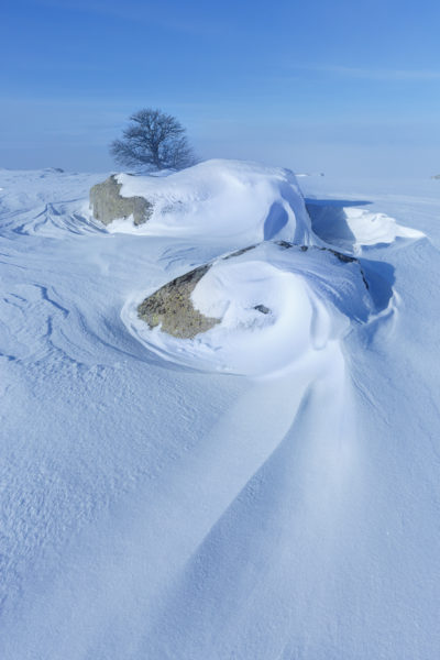 jouer avec la neige en Aubrac, stage photo