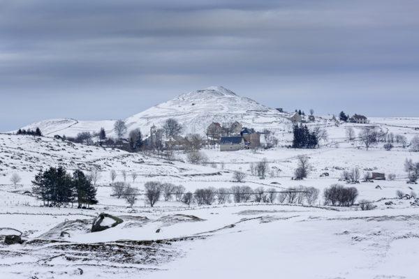 Marchastel, photo de l'Aubrac en hiver